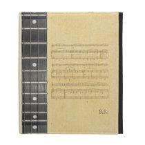 Banjo Fretboard Sheet Music Caseable iPad Sleeve iPad Folio Cover  at Zazzle