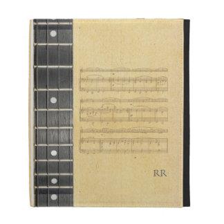 Banjo Fretboard Sheet Music Caseable iPad Sleeve iPad Folio Cover
