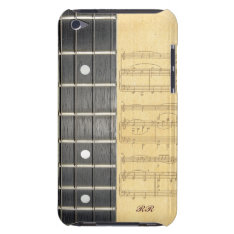 Banjo Fretboard Sheet Music Ipod Touch Case at Zazzle