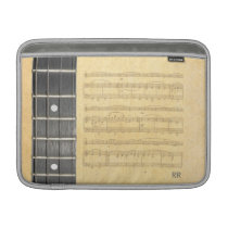 "Banjo Fretboard Sheet Music Macbook Air 13"" Sleeve Sleeves  For MacBook Air at Zazzle"