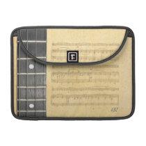 "Banjo Fretboard Sheet Music Macbook Pro 13"" Sleeve MacBook  Pro Sleeve at Zazzle"