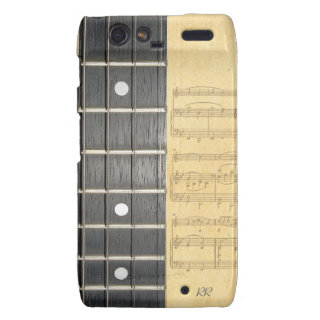 Banjo Fretboard Sheet Music Motorola RAZR Case Motorola Droid Razr Case