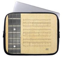 "Banjo Fretboard Sheet Music Neoprene Sleeve 10"" Laptop  Sleeves at Zazzle"