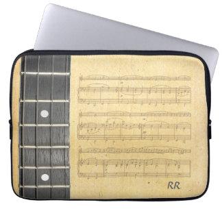 """Banjo Fretboard Sheet Music Neoprene Sleeve 14"""""""