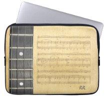 "Banjo Fretboard Sheet Music Neoprene Sleeve 14"" Laptop  Computer Sleeve at Zazzle"