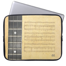 "Banjo Fretboard Sheet Music Neoprene Sleeve 15"" Laptop  Sleeves at Zazzle"