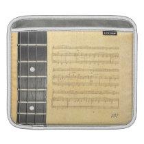 Banjo Fretboard Sheet Music Rickshaw iPad Sleeve at Zazzle