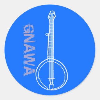 Banjo Gnawa Pegatina Redonda