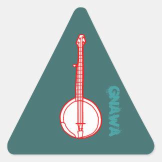 Banjo Gnawa Pegatina Triangular