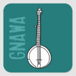 Banjo Gnawa Square Sticker