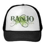 Banjo Green Grunge Music Logo Gift Hat