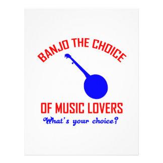 Banjo la opción de amantes de la música plantilla de membrete