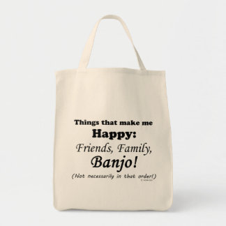 Banjo Makes Me Happy Tote Bag
