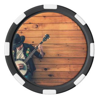 Banjo Man Poker Chips Set