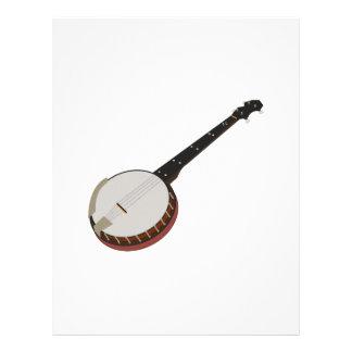 Banjo Membrete A Diseño