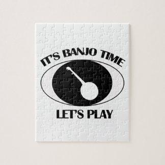banjo Musical designs Jigsaw Puzzle