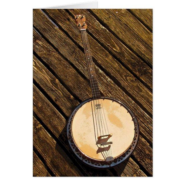 Banjo Musical Instrument Blank Card