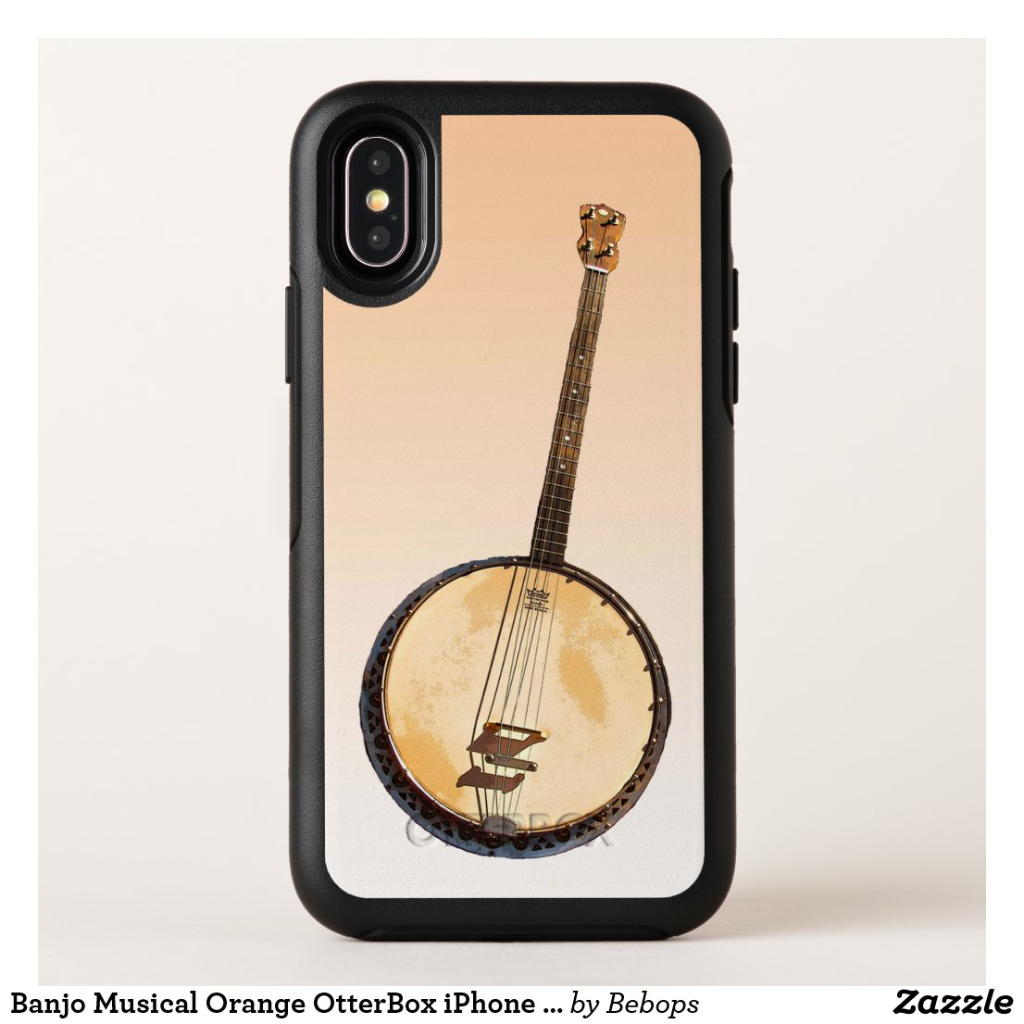 Banjo Musical Orange OtterBox iPhone X Case