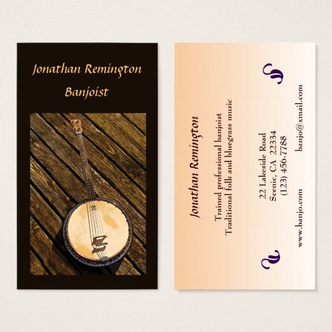 Banjo Musician Business Card