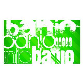 Banjo; Neon Green Stripes Business Card