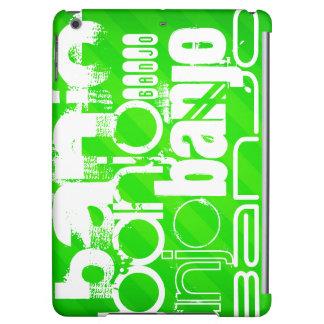 Banjo; Neon Green Stripes Case For iPad Air
