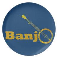 Banjo O Dinner Plate