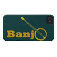 Banjo O iPhone 4 Cases