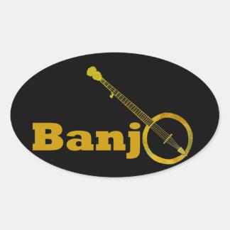 Banjo O Oval Sticker