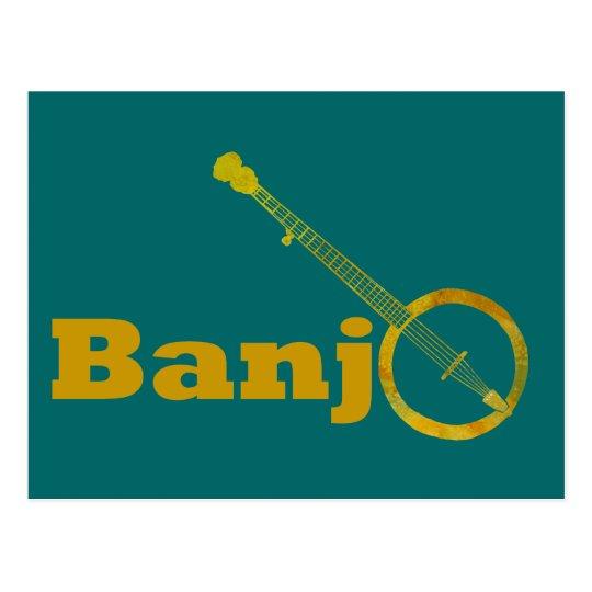 Banjo O Postcard