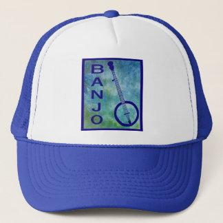 Banjo on Blue Trucker Hat