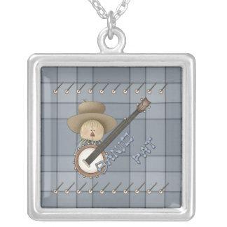 Banjo Pat Square Pendant Necklace