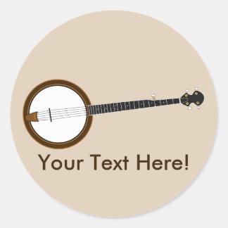 Banjo Pegatina Redonda