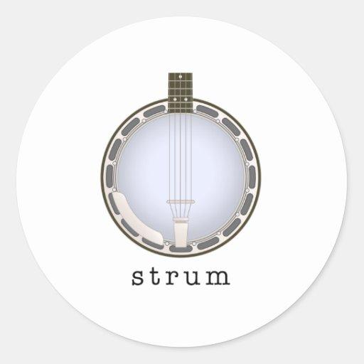 banjo etiqueta redonda