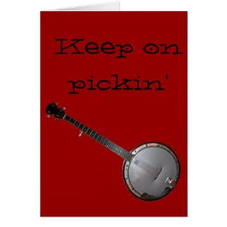 Banjo Picker Card