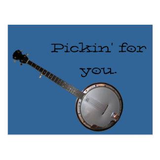 Banjo Picker Postcard