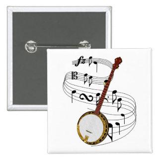 Banjo Pinback Button