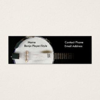 Banjo Player Contact Profile Card