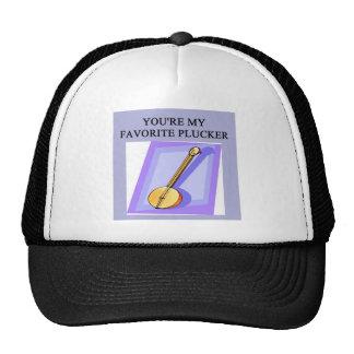 banjo player design mesh hats