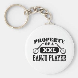 Banjo Player Keychain