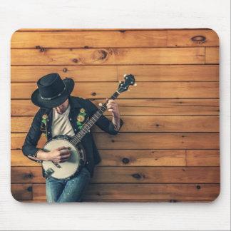 Banjo Player Mouse Pad