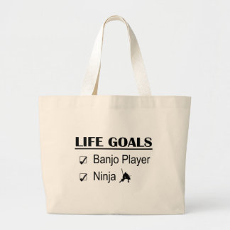 Banjo Player Ninja Life Goals Bags