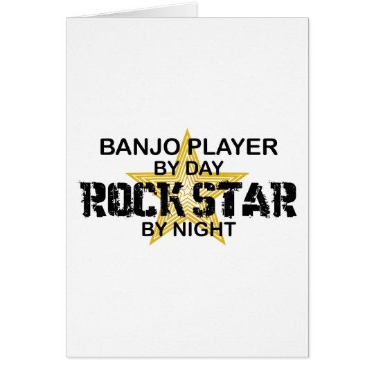 Banjo Player Rock Star by Night Card