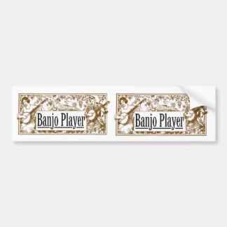 Banjo Player Stickers Car Bumper Sticker
