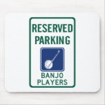 Banjo Players Parking Mouse Pads