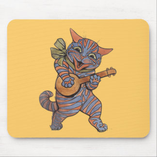 Banjo Playing Cat Mousepads