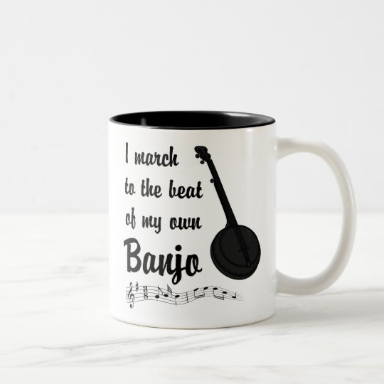 Banjo.png Two-Tone Coffee Mug
