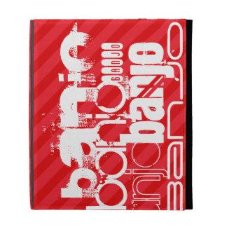 Banjo; Scarlet Red Stripes iPad Folio Cover
