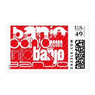Banjo; Scarlet Red Stripes Stamp