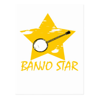 Banjo Star Postcard