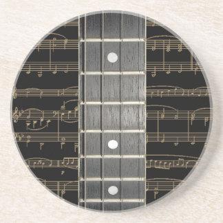 Banjo Strings Fretboard Drinks Glass Coaster